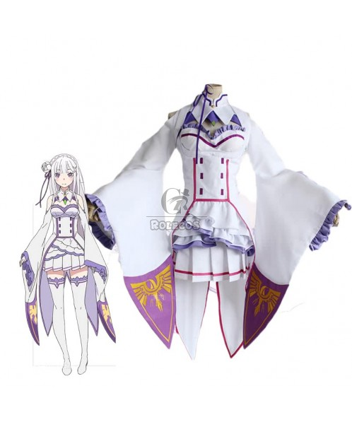 Re: Life in a Different World from Zero Emilia Kleid Cosplay Kostüme