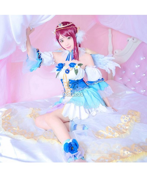 Love Live Sunshine Angel Aqours Riko Sakurauchi Dress Cosplay Costumes