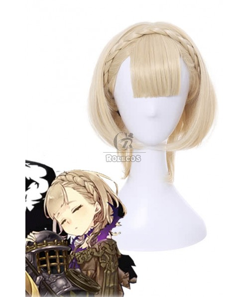 SINoALICE Sleeping Beauty Short Yellow Synthetic Game Cosplay Wigs