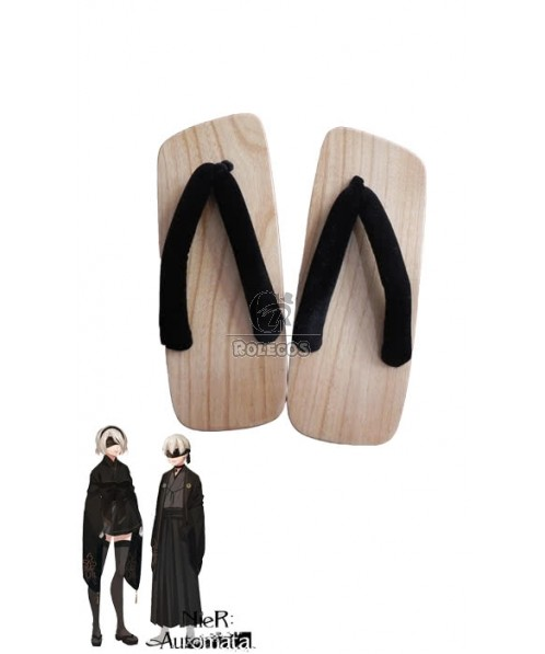 Video Game Nier: Automata Game 2B / 9S Kimono Cosplay Shoes Japanese Clogs
