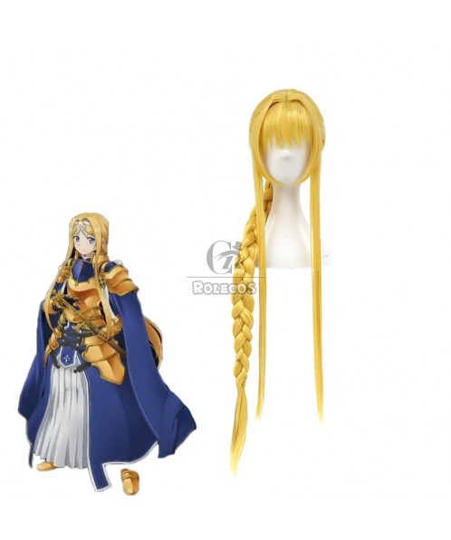 Sword Art Online: Alicization Alice·Synthesis·Thirty Blonde Long Woven ponytail Cosplay Wigs