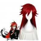 Black Butler Death Scythe Grell Sutcliff  Red Long Cosplay Wig