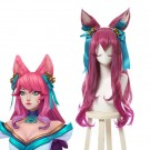 LOL Spirit Blossom Ahri Pink Mixed Long Cosplay Wigs