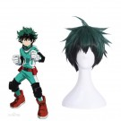 My Hero Academia Izuku Midoriya Fluffy Green and Black Gradient Hair Cosplay Wigs