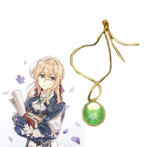 Anime Violet Evergarden Violet Evergarden Cosplay Necklace Cosplay Props