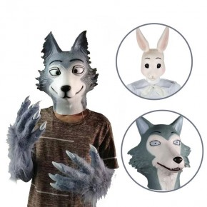 BEASTARS Haru & Legoshi Prop Headgear Mask Wolf Paw Tail Cospaly Props