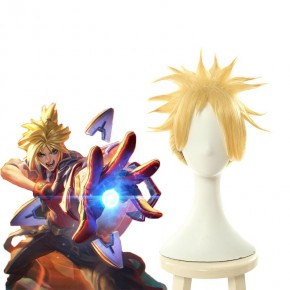 LOL Battle Academy Ezreal Blonde Wig With Ponytail Cosplay Wigs