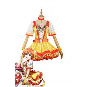 Love Live Bouquet Awaken Hoshizora Rin Yellow Dress Anime Cosplay Costumes