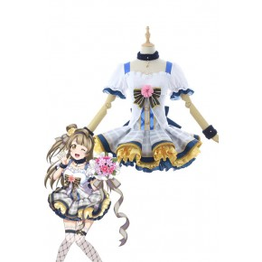 Love Live Bouquet Awaken Minami Kotori Gray Dress Anime Cosplay Costumes