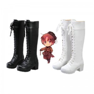 Hetalia: Axis Powers Iceland Anime Cosplay Shoes Customized  Long Boots