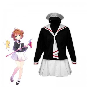 Card Captor Sakura Kinomoto Sakura Tomoeda Winter School Uniform Cosplay