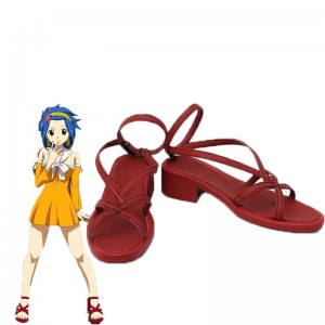 Fairy Tail Anime Levy Mcgarden Cosplay Schuh-Rot