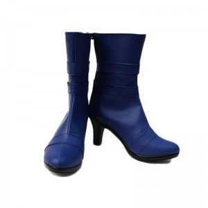 Sailor Moon Sailor Uranus Tenoh Haruka Cosplay Schuhe Blau Stiefel Tailor Made