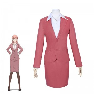 WotaKoi Love is Hard for Otaku Narumi Momose Pink Suits for Women Cosplay Costume