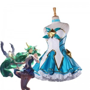 League Of Legends Magical  Girl Soraka Dress Game Cosplay Costumes