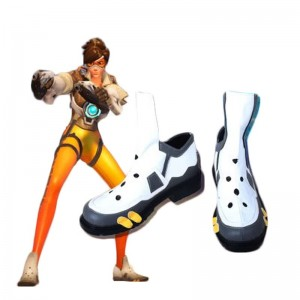 Game Overwatch Tracer Lena Oxton Fight Cosplay Shoes