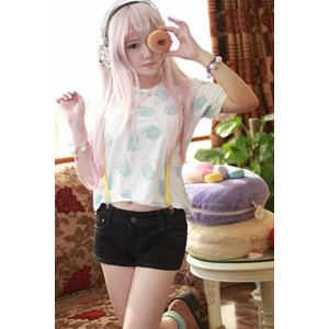 Super Sonico Sommer Shorts Cosplay