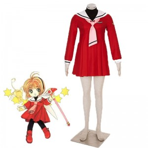 Card Captor Sakura Kinomotosakura 4. Version Red Seemann Cosplay Kostüme