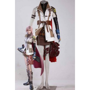 Final Fantasy 13 - Donner roten Mantel Anzug Cosplay Kostüme