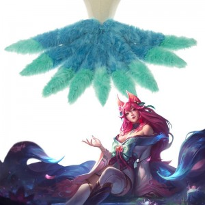 LOL Spirit Blossom Ahri  Gradient Tail Cosplay