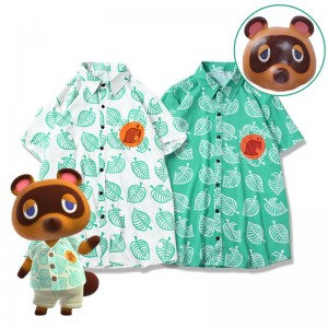 Animal Crossing Tom Nook Shirt T-shirt Cat Costume Hood Cosplay Costume