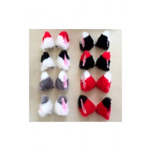 Anime Props Tip Plush Hairpin Solid Fox Ears Cosplay Accessory
