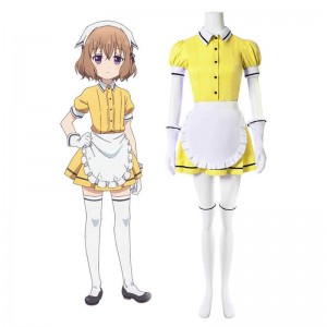 Blend S Mafuyu Hoshikawa Yellow Anime Cosplay Costumes