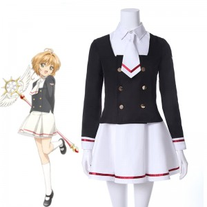 Cardcaptor Sakura Clear Card Tomoyo Daidouji Skirt Anime Cosplay Costumes