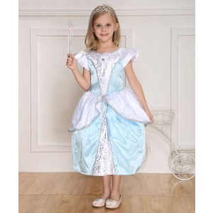 Blau Kinder Halloween-Partei-Kostüm der Prinzessin-Dress