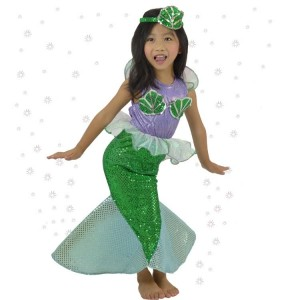 Grüne Kinderweihnachtskostüm Little Mermaid Princess Dress