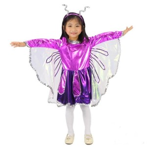 Lila Kinder Halloween-Kostüm-Schmetterlings-Prinzessin-Kleid