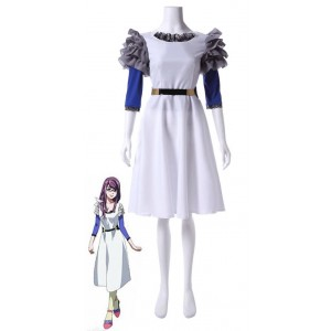 Tokyo Ghoul Rize Kamishiro Fancy White Dress Cosplay Costume