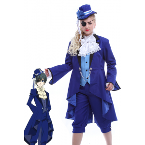 Ciel Phantomhive Cosplay blaue Uniform mit speziellen Design