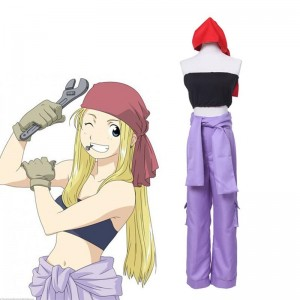 Custom made Fullmetal Alchemist Winry Rockbell Working Cosplay Costumes