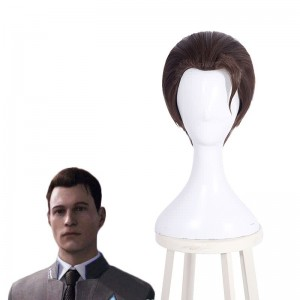 Detroit Become Human RK800 Connor Short Brown Cosplay Wigs