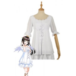 Love Live Sunshine Angel Aqours Unawaken Dia Kurosawa White Dress Anime Cosplay Costumes