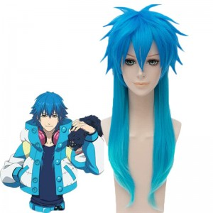 Dramatical Murder Seragaki Aoba Anime Blue Long Cosplay Wigs