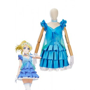 Love Live! Yume No Tobira Eli Ayase Blue Anime Coaplay Dress