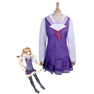Saekano: How to Raise a Boring Girlfriend Eriri Spencer Sawamura Purple Dress Anime Cosplay Costumes