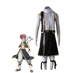 Fairy Tail Natsu Dragneel Cosplay Costume Black Suit 1nd