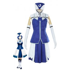 Fairy Tail Regen Frau Juvia Lockser blauen Abendkleid Cosplay