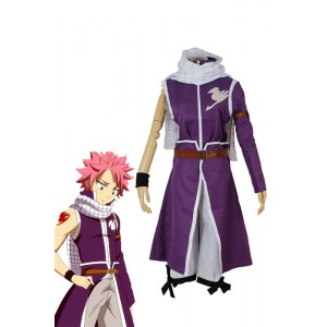 Fairy Tail-Team Fairy Tail A Natsu Dragneel Cosplay Kostüme Lila Robe