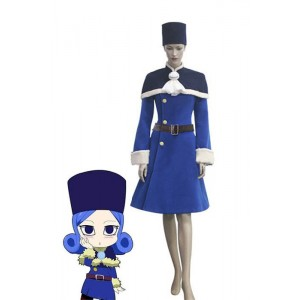 Fairy Tail Regen Frau Juvia Lockser Blau Lolita Kleid Cosplay