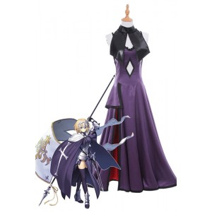 Fate/Grand Order Fate Go Black Joan Of Arc Long Purple Dress Game Cosplay Costumes