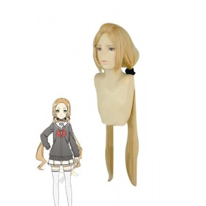 Fu Inubozaki Long Golden Cosplay  Woman Wigs