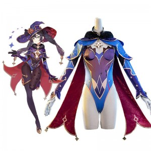 Game Genshin Impact Mona Magical Girl Cosplay Costume
