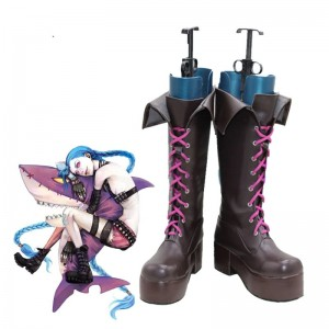 Game LOL Loose Cannon Jinx Cosplay Boots