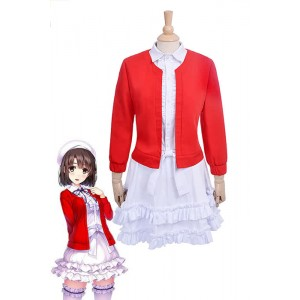 Saekano: How to Raise a Boring Girlfriend Megumi Kato Red Dress Anime Cosplay Costumes