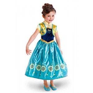 New Anna Kid Prinzessin Blue Dress Cosplay für Kinder