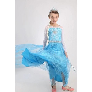 Neue blaue Elsa Prinzessin Dress Cosplay